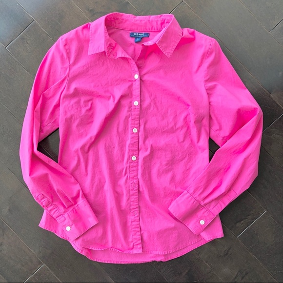 $10 Add on Old Navy fuchsia pink button down shirt